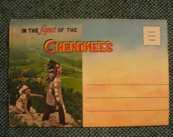 Land of the Cherokees Postcard Folder