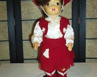 Vintage Terri Lee Cowgirl Doll