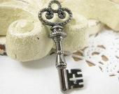 8 pcs Vintage Style Key Charm or Pendant 32mm x 12mm CM018-BLK