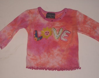 0 to 3 months tie dye love tee