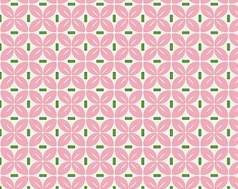 Pink Sew Cherry Fabric by Lori Holt for Riley Blake Fabrics