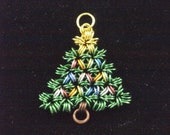 Chainmaille Christmas Tree Pendant/ Ornament with necklace