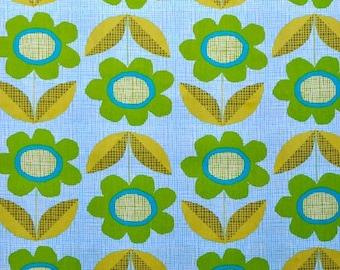 Monaluna Organic Fabrics Havana Collection One Yard Blooms in Blue
