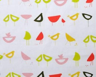 Monaluna Organic Fabrics Havana Collection One Yard of Little Birds in Red