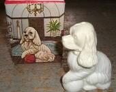 "Vintage Bottle, Avon, Dog, Cocker Spaniel,  ""Lady Spaniel"", Patchwork Cologne, Original Box, Dog Figurine"