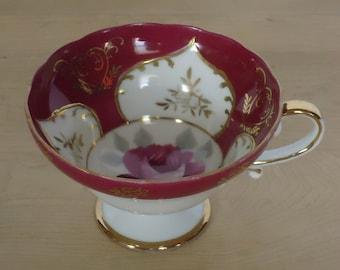 Vintage Hand Painted Rose Porcelain Teacup