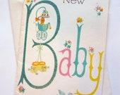 Vintage Unused Baby Greeting Card