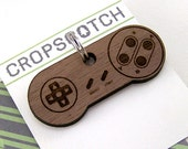 Dog ID Tag Wood - Video Game Controller Pet Collar Tag