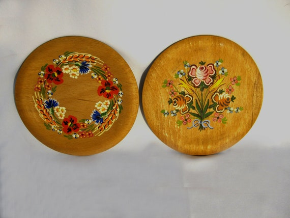 Decorative wooden plates / German wood plates /  home decor Wall hanging