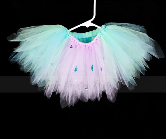 Dragonfly Princess Tutu- Mint Green,Blue, Lavender, Baby Girl (Ready to Ship)