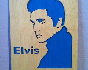 Elvis presley wood scroll saw wall art
