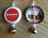 Samichlaus Bottle Cap Earrings - Ready for the Holidays