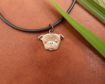 Bronze Bulldog Necklace