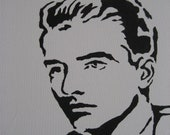 "Montgomery Clift Pop Art Stencil Portrait 16""x20"" RESERVED"