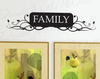 Family Love Home Vinyl Quote Sticker Graphic Large Wall Decal Decor Saying Lettering Art Decoration F06