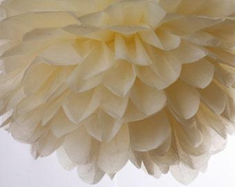 Ivory 1 Large Tissue Paper  Pom Poms
