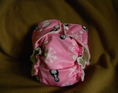 Pink Penguin All In One (AIO) or AI2 (All In Two) or Pocket One Size Cloth Diaper