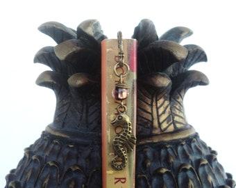 Seahorse Bookmark, Beach Bookmark, Nautical Bookmark, Small Bookmark, Mini, Bookmark, Unusual Bookmarks, Earthy, Bohemian Earth Designs