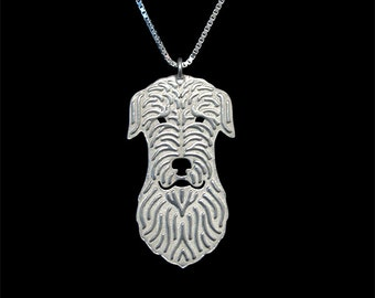 Irish Wolfhound pendant and necklace - sterling silver