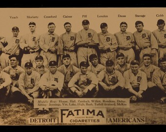 1913 Detroit Tigers Team Picture - Digitally Remastered Fine Art Print - Ty Cobb
