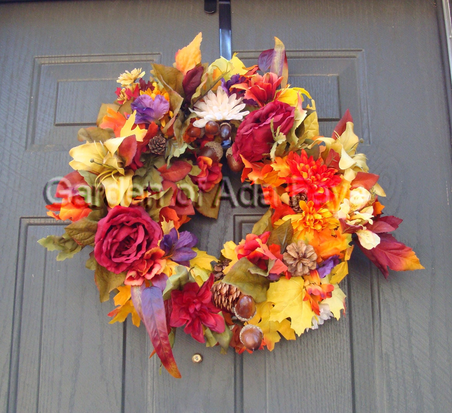 Items similar to autumn wreaths wreaths fall wreaths for Autumn flower decoration