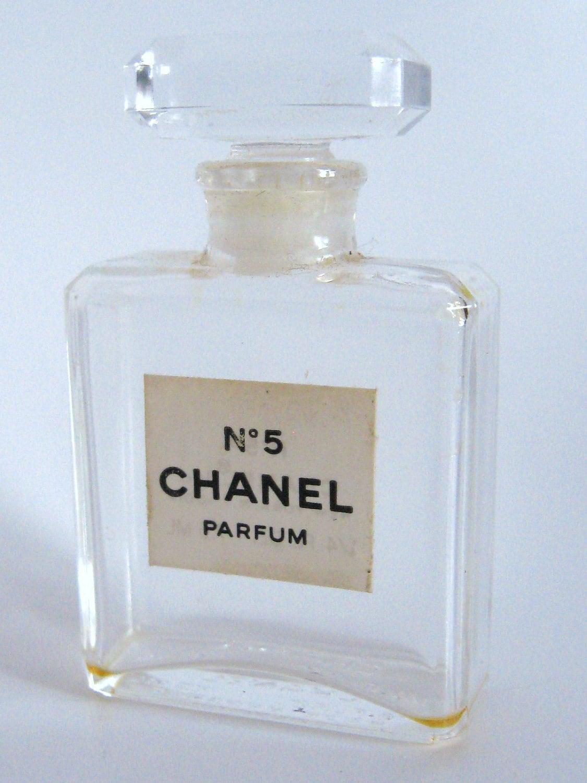 Vintage 1950s Chanel No 5 Parfum Crystal Glass Perfume