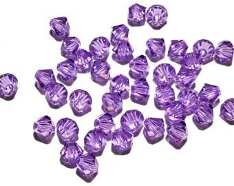 100 - 4mm - Violet 5301 Swarovski Crystals