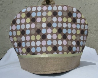 REDUCED PRICE Neutral Colors Polka Dots Teapot Cover