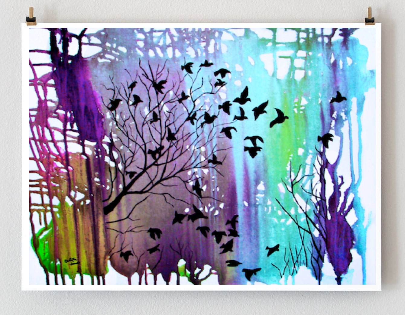 giclee print tree art wall d cor landscape art wall by