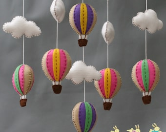 Fun fair hot air balloons baby mobile - baby mobile