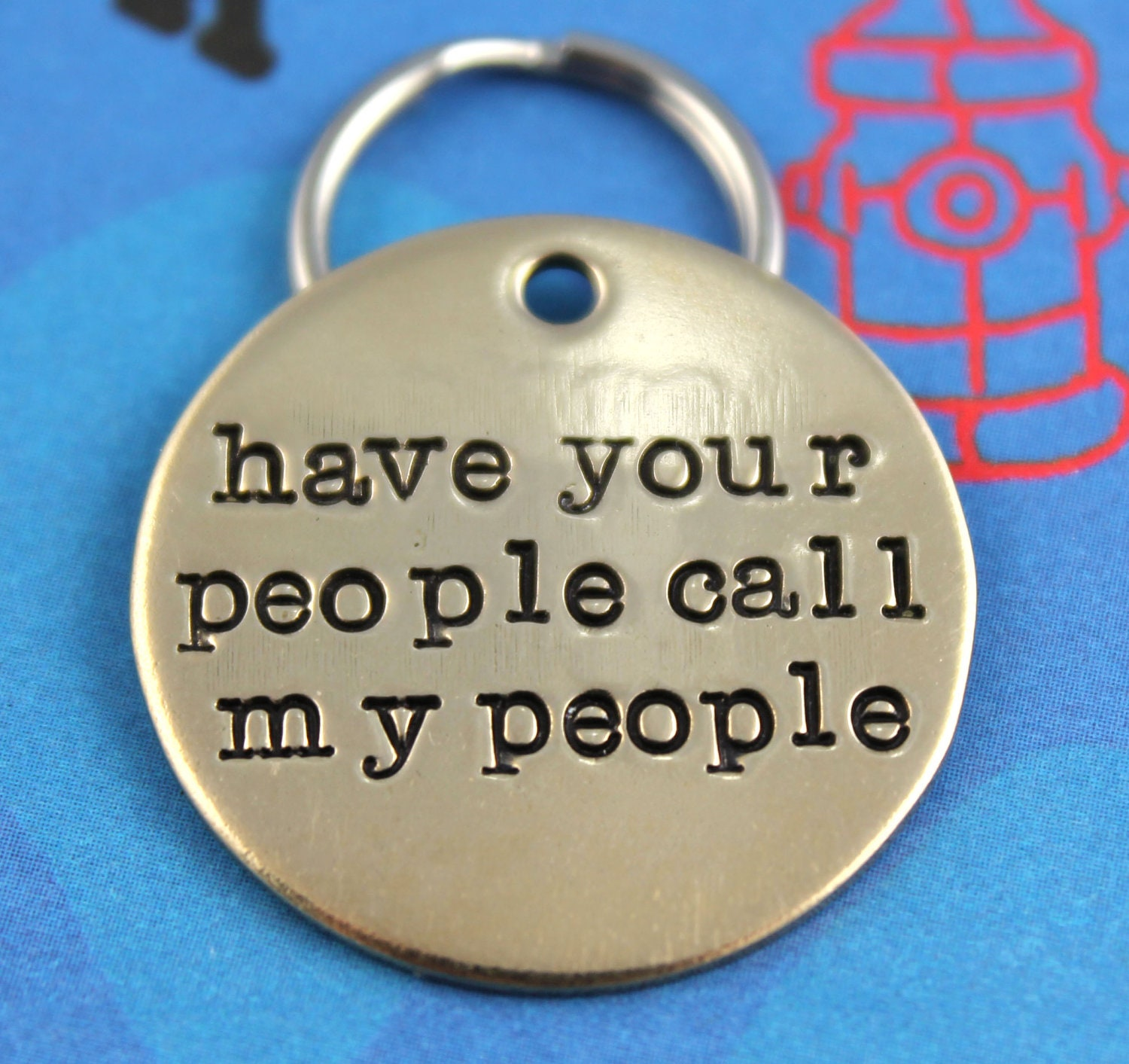 Custom Dog Tag Unique Pet Id Tag Handstamped Nu Gold Dog