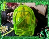 Neon Green Transparent Backpack
