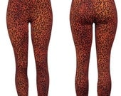 Electric Red Rockabilly Leopard Leggings