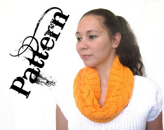 One Skein Knitting Pattern - Lace Circle Scarf