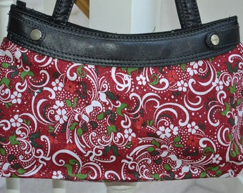 Thirty One Purse Skirt - Snowy Swirls