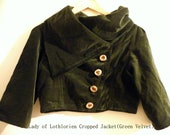 FINAL PAYMENT for Alev- Custom Green Velvet 'Earth Maiden' Jacket with bell sleeves