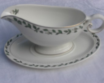 Hall Cameo Rose Pattern Mary Dunbar Superior Jewel Homemakers Institute - Gravy Boat and Underplate