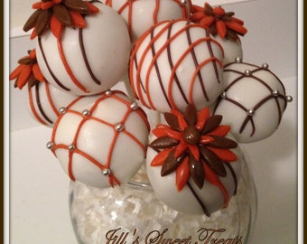 Fall Flower Power Cake Pops