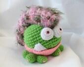 Amigurumi Crochet Pattern - Mowhawk Mama the Gumball Dragon