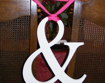"""PAINTED 10"""" Wooden Ampersand Sign Photography-DIY-Wedding Decor-Engagement-Wooden Alphabet Letters- Photo prop '&'sign- Birthday- Decor"""