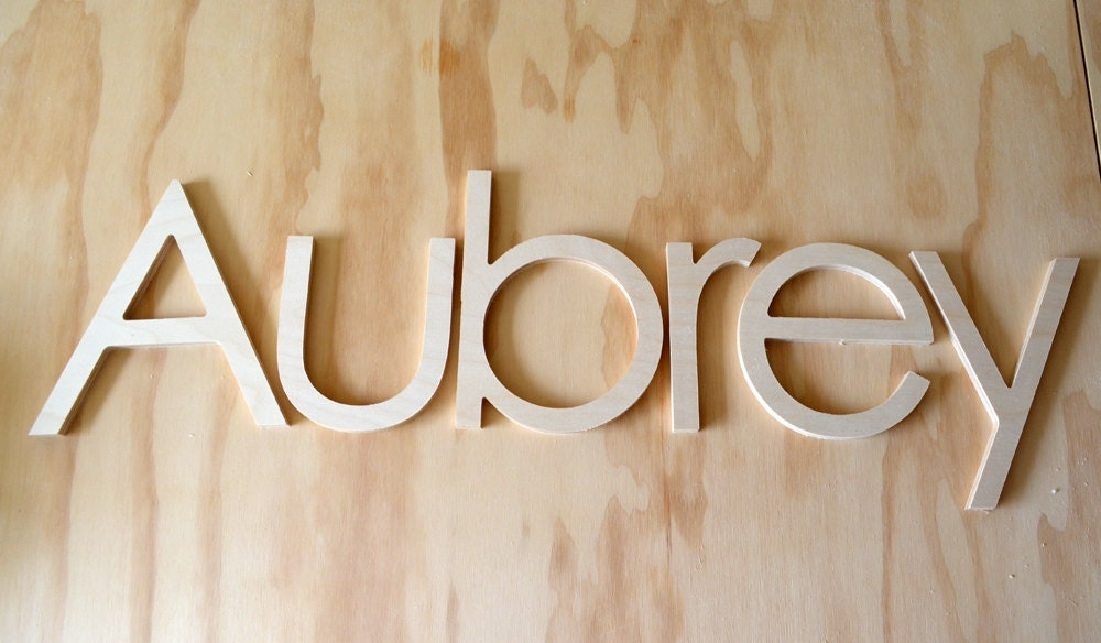 10 INCH Unfinished Wooden Letters-wooden Wall Letters Nursery