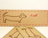 Dachshund bookmark hand-embroidered customizable colors dog bookmark puppy animal cute