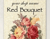 ETSY SHOP BANNERS Red Bouquet