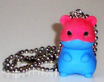 Hamster Necklace Rubber Toy Geekery Jewelry