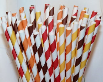 30 it's FALL Ya'LL  AssorTeD Paper Straws, Paper Drinking Straws, Party,  Wedding, Birhday, Events, BirThDay