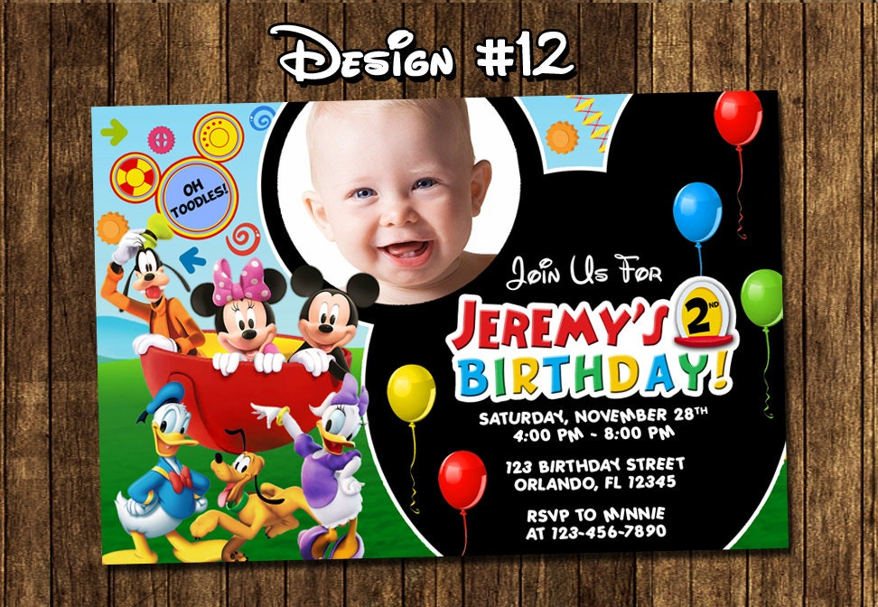 Mickey Mouse Clubhouse Birthday Party Invitations frenchkittennet