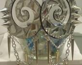 frost bitten spike-cicles swirl earrings