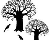 Set - Winter Trees UM Rubber Stamps