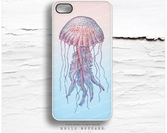 iPhone 6S Case, iPhone 6S Plus Case Jellyfish, iPhone 5s Case Vintage, iPhone 6 Case, Sea-life iPhone Case, Jellyfish iPhone 5C Cover V40
