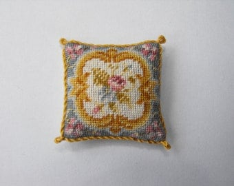 Aubusson pillow / cushion 1/12th scale petitpoint